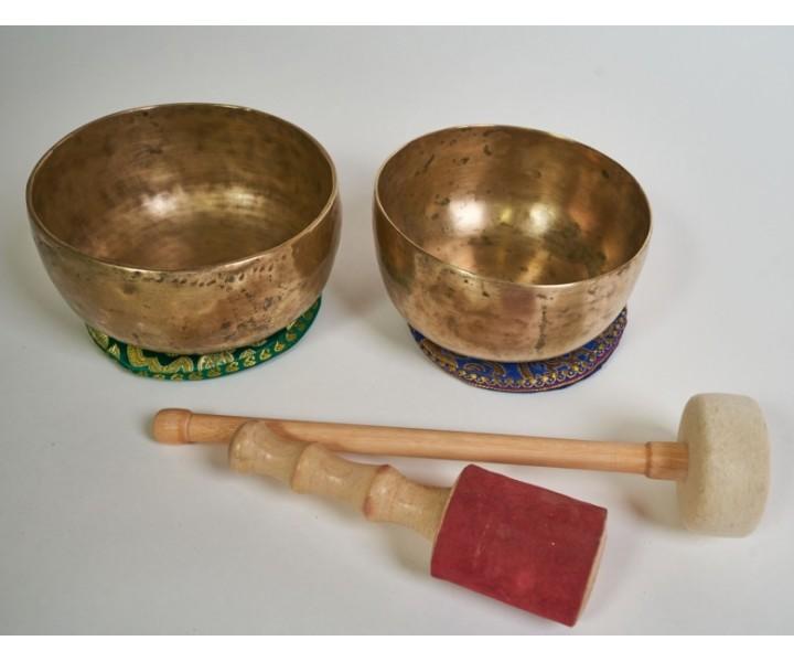 "Set of 2 ancient Himalayan bowls ""Hope""  (xs7)"