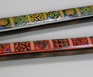 Rainstick painted from Peru 50cm