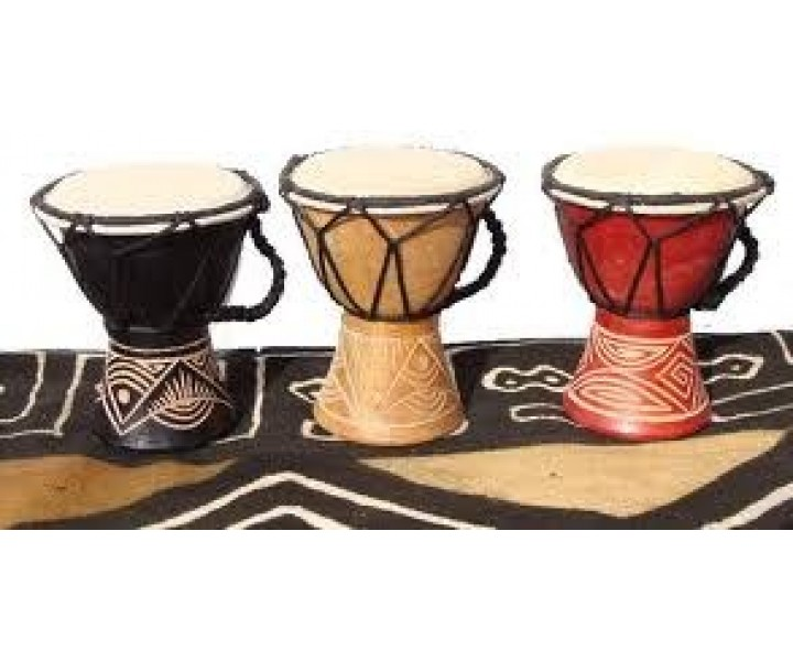 15cm painted/carved djembe