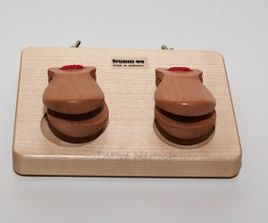 Castanets on wooden frame