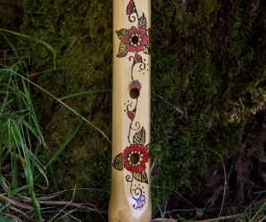Fujara (Shepherd's pipe) with decoration