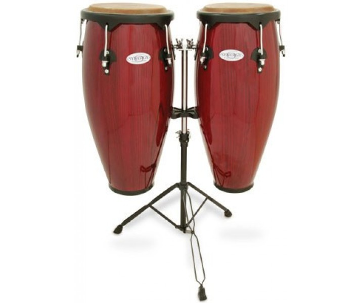 Congo set with stand Rio red