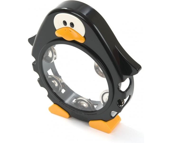 Plastic Tambourine Black Penguin