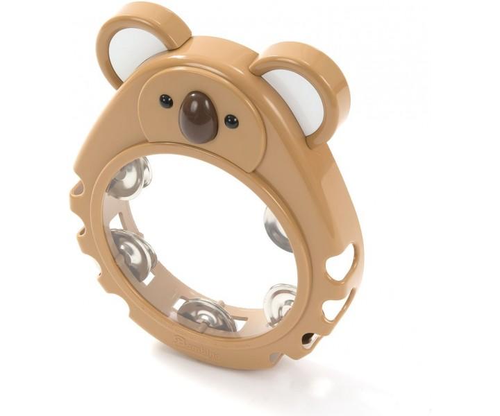 Plastic Tambourine Brown Koala