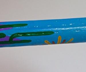 Cactus rainstick painted 75cm
