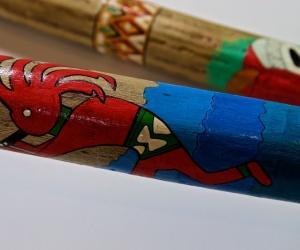 Cactus rainstick painted 150 cm