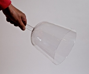 Handheld Crystal Bowl with 19,5 cm