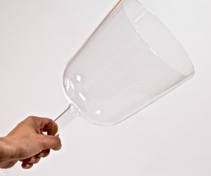 Handheld Crystal Bowl with 18 cm