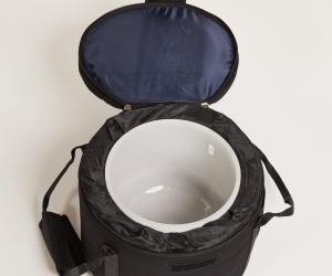 Case for Crystal bowls 25 cm black