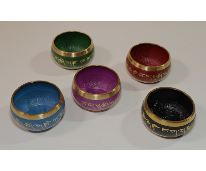 Indian Decorated Bowl - Black