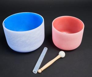 Set of color crystal bowls 2/1