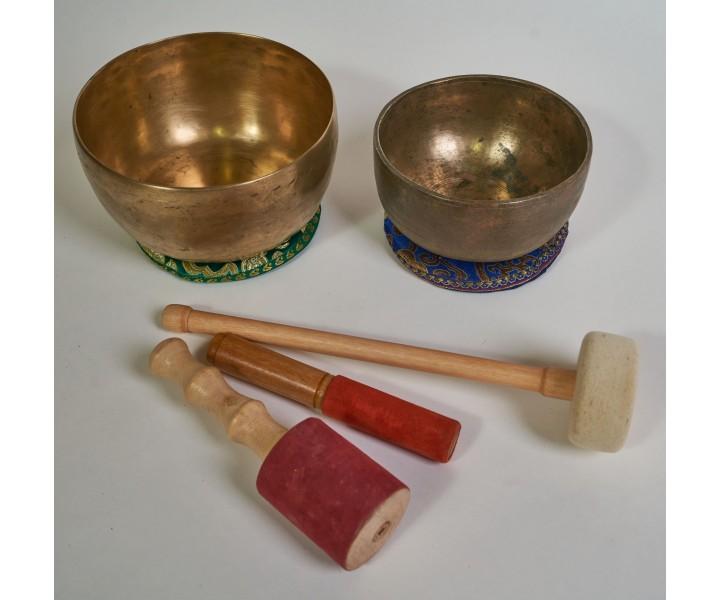 Set of 2 old himalayan bowls LN 61/2