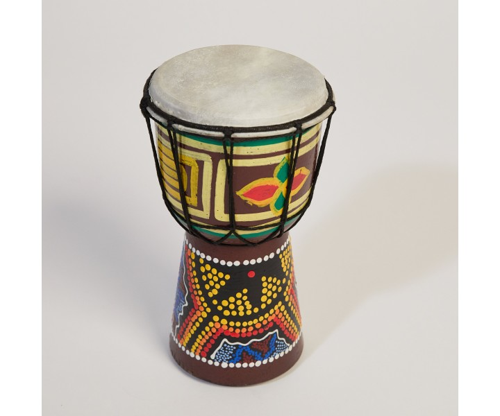 20 cm painted/carved djembe