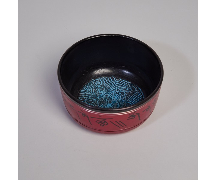 Decorated Bowl Red