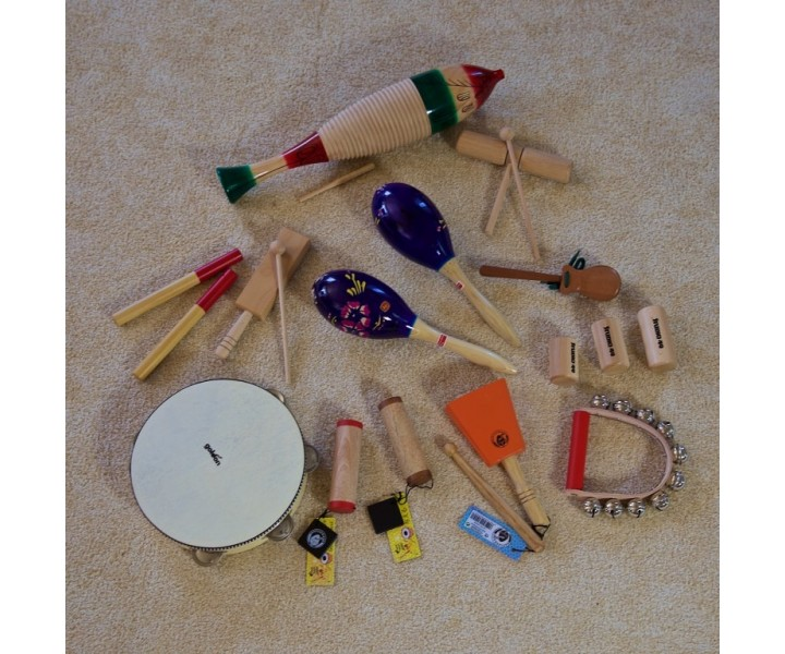 Set of traditional percussions