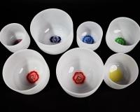 Chakra crystal singing bowls