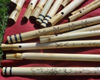 Indian bamboo overtone flutes