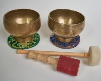 SET OF ANCIENT HIMALAYAN SINGING BOWLS