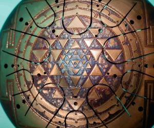 "SAVITA Drum ""Shri Yantra"" double side"