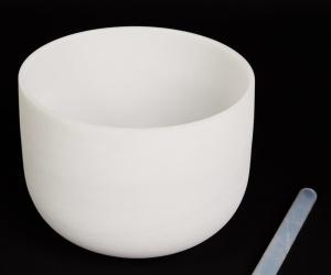 "White crystal bowl 35 cm C ""Earth"" 426 Hz"