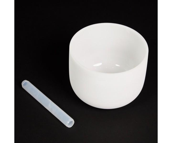 """White crystal singing bowl 23 cm A """"Third Eye"""""""