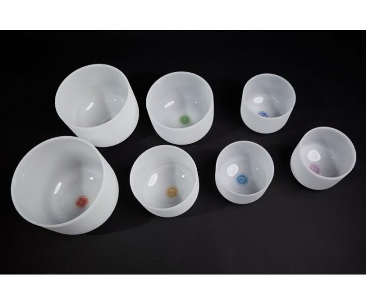 Set of Chakra crystal bowls