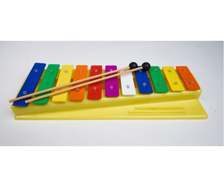Colored metallophone 11 tones
