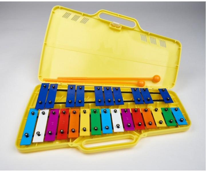 Colored metallophone chromatic