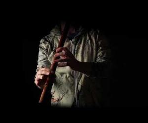 Meditation flute C# red