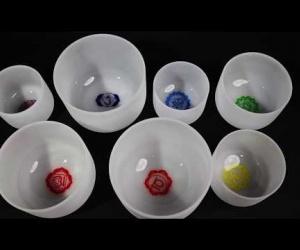 Crystal bowls chakra set
